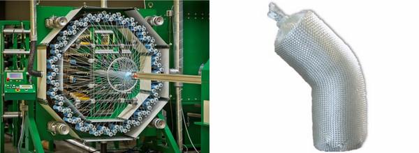 thoenes® Axialflechtmaschine und Druckrohrformstückrohling