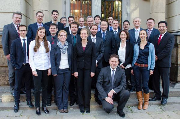 Das Projektteam; Foto: TUD/ILK