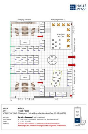 Hallenplan BIOPOLYMER-MKT-2020: Halle 1
